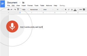 google voice in docs